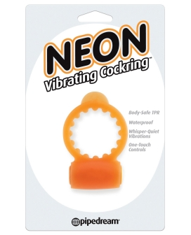 Neon Vibrating Cockring - Orange
