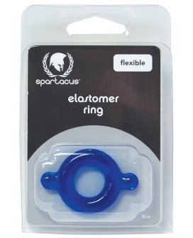 Spartacus Elastomer Cock Ring - Blue