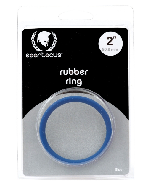 "Rubber Cock Ring - 2"" Blue"