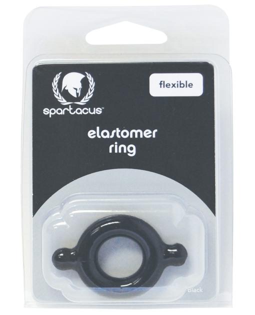 Spartacus Elastomer Cock Ring - Black