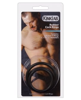 Kinklab Rubber Cock Ring - Pack of 3