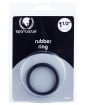 """1.5"""" Rubber Cock Ring - Black"""