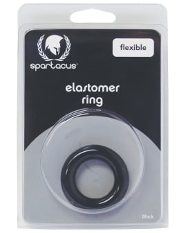 Elastomer Relaxed Fit Cock Ring - Black