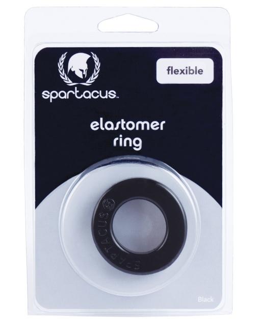 Elastomer Cock Ring - Metro Black