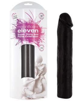 Magnificent Eleven Super Dong Penis Extension - Black