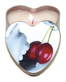 Earthly Body Suntouched Hemp Edible Candle - 4.7 oz Heart Tin Cherry