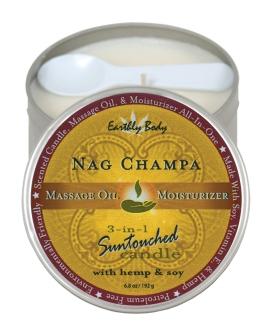 Earthly Body Suntouched Hemp Candle - 6.8 oz Round Tin Nag Champa