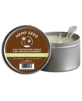 Earthly Body Suntouched Hemp Candle - 6.8 oz Round Tin Cucumber/Melon