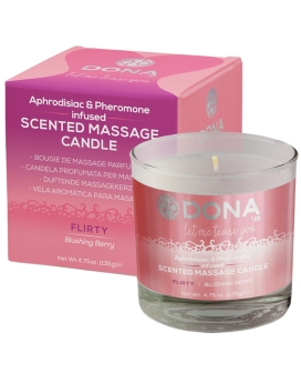 Dona Scented Massage Candle Flirty - 4.75 oz Blushing Berry