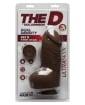 "The D 8"" Fat D w/Balls - Chocolate"