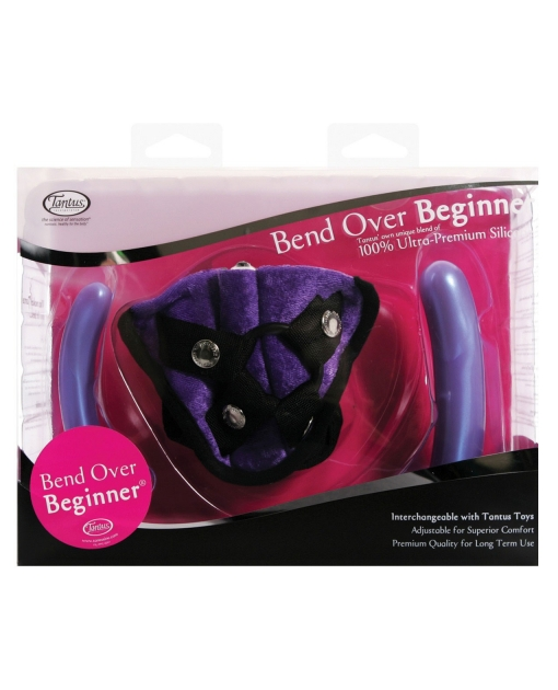 Tantus Bend Over Beginner PPA w/Harness - Purple