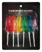 Rainbow Dick Suckers - Asst. Colors/Flavors Pack of 6