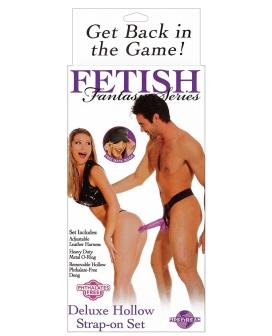 Fetish Fantasy Series Deluxe Hollow Strap-On Set - Purple