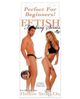 Fetish Fantasy Series for Him or Her Hollow Strap-On - Flesh