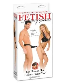Fetish Fantasy Series for Him or Her Hollow Strap-On - Black
