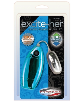 Perfect Touch Excite-Her Silver Bullet Waterproof - Luster Blue