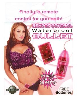 Remote Control Waterproof Bullet - Pink