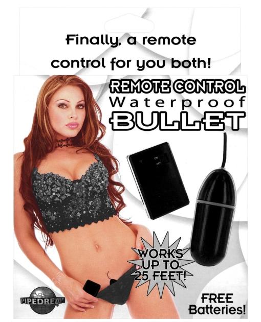 Remote Control Waterproof Bullet - Black