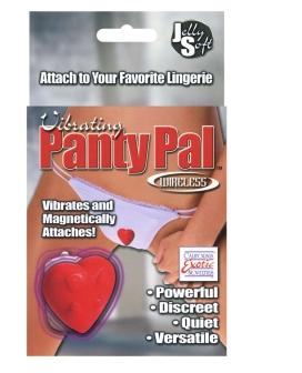 Vibrating Panty Pal Heart - Red