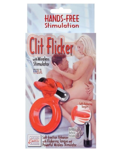 Clit Flicker w/Wireless Stimulator - Red