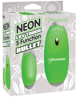 Neon Luv Touch Bullet - 5 Function Green