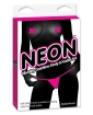Neon Vibrating Crotchless Panties & Pastie - Pink