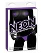 Neon Vibrating Crotchless Panties & Pastie - Purple