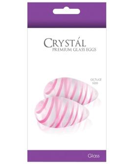 NS Novelties Crystal Glass Eggs - Clear