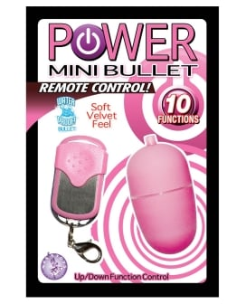 Power Mini Bullet Remote Control - 10 Function - Pink
