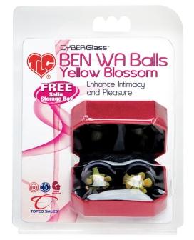 TLC CyberGlass Ben Wa Balls - Yellow Blossom