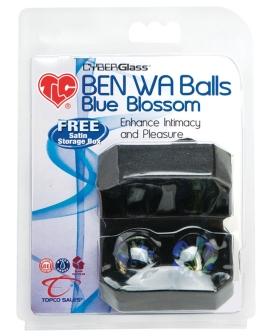 TLC CyberGlass Ben Wa Balls - Blue Blossom