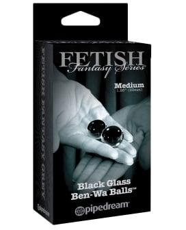 Fetish Fantasy Limited Edition Black Glass Ben-Wa Balls - Medium