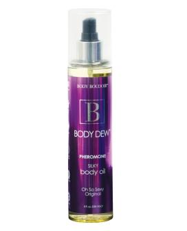 Body Dew Silky Body Oil w/Pheromones - 8 oz Original