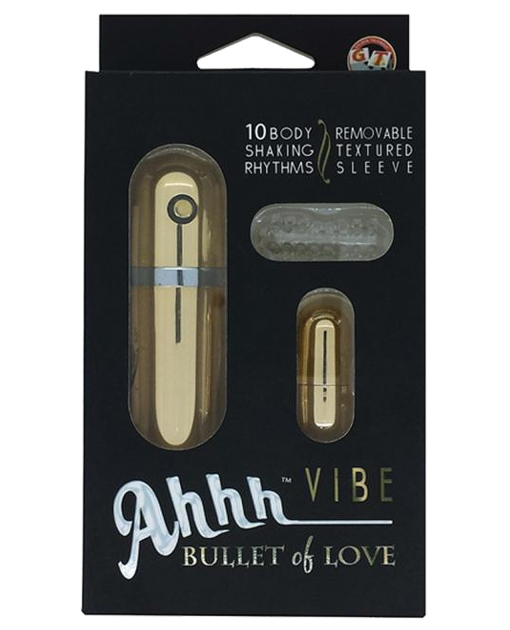 Ahhh Vibe Bullet of Love w/Sleeve - Gold