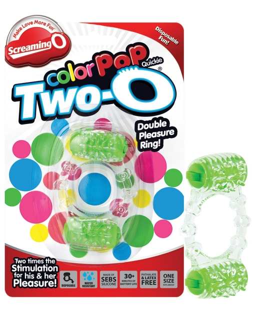 Screaming O Color Pop Quickie Two-O - Green
