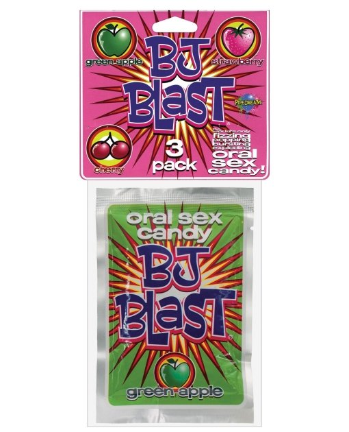 BJ Blast Oral Sex Candy - Asst. Flavors Pack of 3