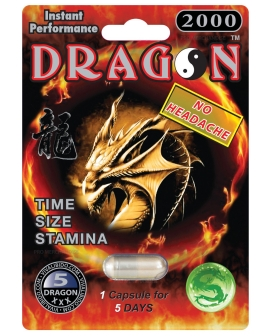 Dragon 2000 Male Enhancement - 1 Capsule Blister