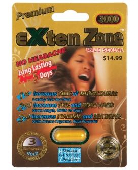 Exten Zone Premium Gold 3000 - 1 Capsule Pack