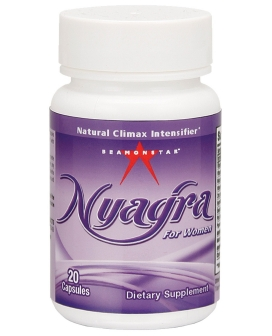 Nyagra Female Climax Intensifier - Bottle of 20 Capsules