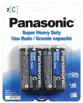 Panasonic Super Heavy Duty Battery C - Pack of 2