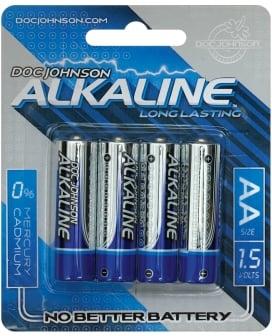 Doc Johnson Alkaline Batteries - AA 4 Pack