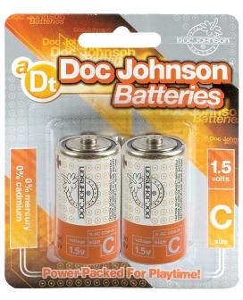 Doc Johnson Batteries - C 2 Pack