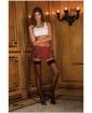 Rene Rofe School Girl Mini Skirt Plaid Red SM