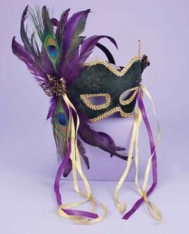 Karneval 1/2 Mask - Peacock