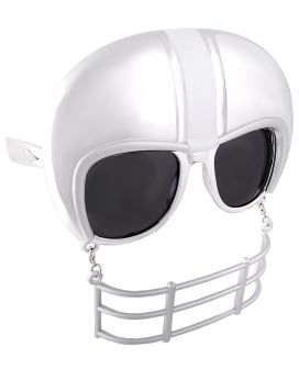 Sun Staches Football Helmet