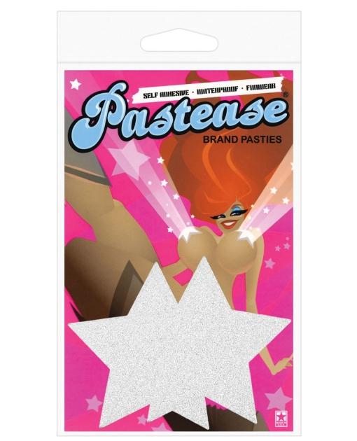 Pastease Silver Glitter Star O/S