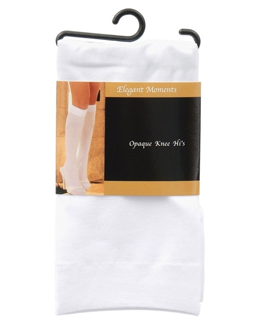 Opaque Knee Highs White O/S
