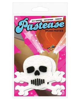 Pastease White Skull w/Black O/S