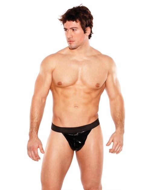 Zeus Wet Look Thong Black O/S