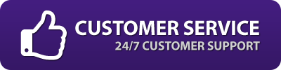 24/7 Customer Service via Email!